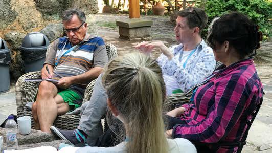Bootcamp i Hellas innebærer daglige refleksjoner og erfaringsutveksling.